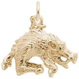 Gold Plate Wild Boar Charm by Rembrandt Charms