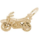Gold Plate Dirt Bike Charm by Rembrandt Charms