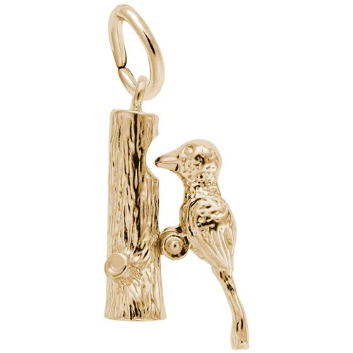 10K Gold Woodpecker Charm by Rembrandt Charms