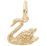 14K Gold Swan Charm by Rembrandt Charms