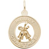 10K Gold Merry Christmas Charm by Rembrandt Charms