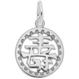 14K White Gold Happiness Symbol Charm by Rembrandt Charms