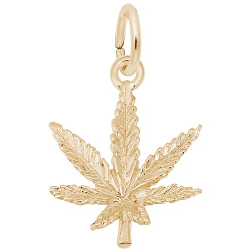 14k Gold Marijuana Leaf Charm by Rembrandt Charms