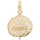 Gold Plated Aspen Leaf Charm by Rembrandt Charms