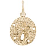 Gold Plate Sand Dollar Charm by Rembrandt Charms