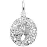 14K White Gold Sand Dollar Charm by Rembrandt Charms