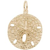14k Gold Sand Dollar Charm by Rembrandt Charms