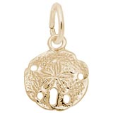 10K Gold Sand Dollar Accent Charm by Rembrandt Charms
