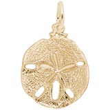 Gold Plated Sand Dollar Charm by Rembrandt Charms