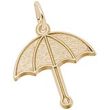 Gold Plated Umbrella Charm by Rembrandt Charms