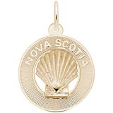 Gold Plate Nova Scotia Shell Ring Charm by Rembrandt Charms