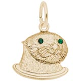 Gold Plated Sea Otter (green) Charm by Rembrandt Charms