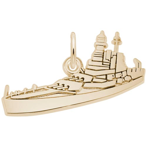 Gold Plate USS North Carolina Charm by Rembrandt Charms