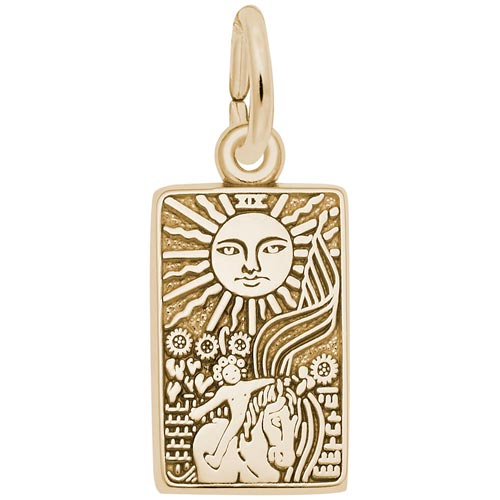 10K Gold Tarot Card Charm by Rembrandt Charms