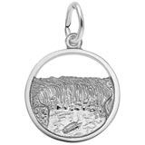 14K White Gold Niagara Falls Charm by Rembrandt Charms