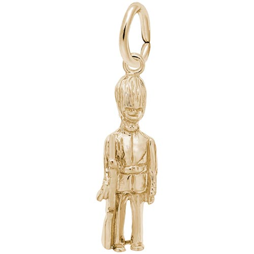 14K Gold British Guard Charm by Rembrandt Charms