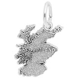 14K White Gold Scotland Map Charm by Rembrandt Charms
