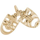 10K Gold Theatre Masks Charm by Rembrandt Charms