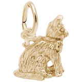 14K Gold Sitting Cat Charm by Rembrandt Charms