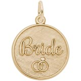 14K Gold Bride Disc Charm