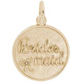 14K Gold Bridesmaid Disc Charm