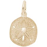 10K Gold Sand Dollar Charm by Rembrandt Charms