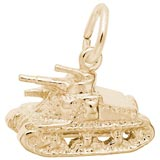10K Gold Army Tank Charm by Rembrandt Charms