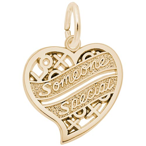 14K Gold Someone Special Heart Charm by Rembrandt Charms