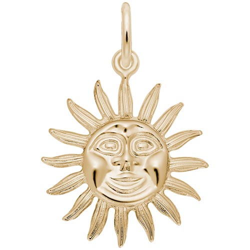 14K Gold Sunburst Charm by Rembrandt Charms