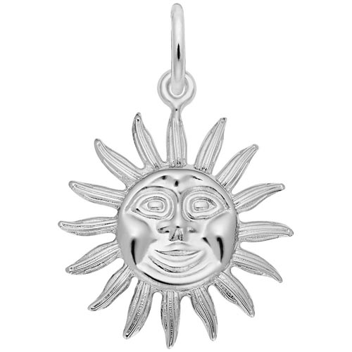 Sterling Silver Sunburst Charm by Rembrandt Charms