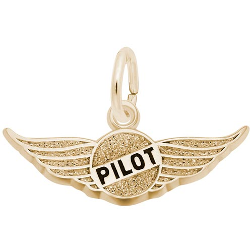 14K Gold Pilot's Wings Charm by Rembrandt Charms