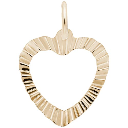 14K Gold Heart Charm by Rembrandt Charms