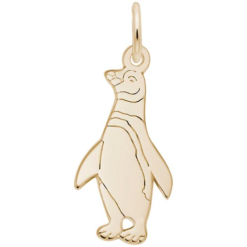 Gold Plated Penguin Charm by Rembrandt Charms