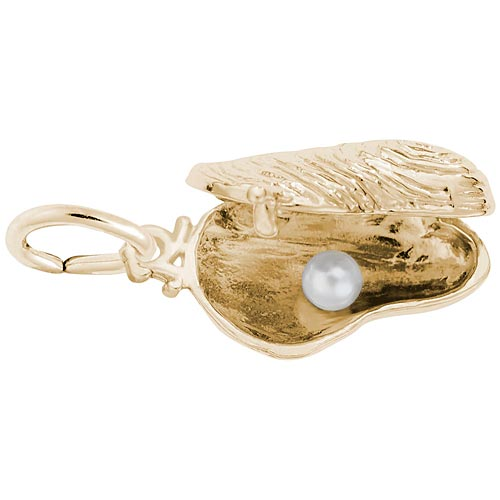 Gold Plate Opening Oyster Charm by Rembrandt Charms