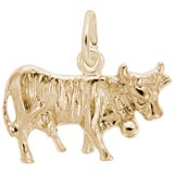 14K Gold Cow Charm by Rembrandt Charms