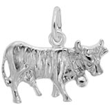 14K White Gold Cow Charm by Rembrandt Charms