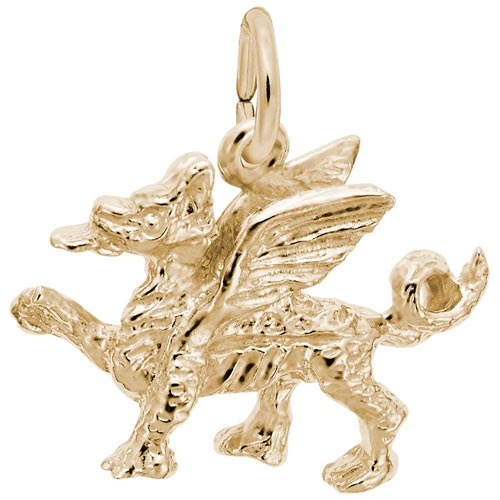 10K Gold Griffin Charm by Rembrandt Charms