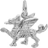 14K White Gold Griffin Charm by Rembrandt Charms