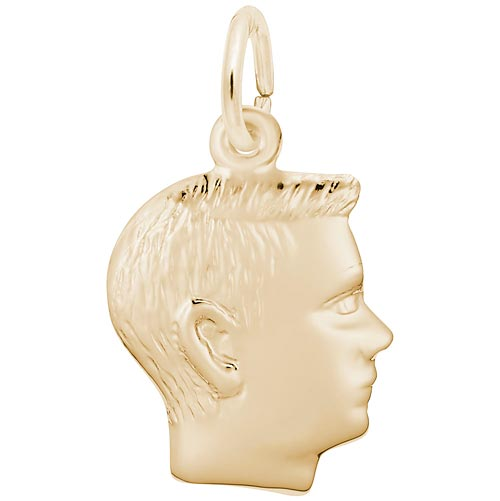 Rembrandt Boy's Head Charm, 14k Yellow Gold