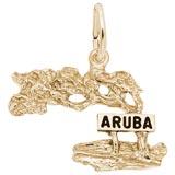 10K Gold Aruba Cypress Tree Charm by Rembrandt Charms