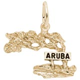 Gold Plate Aruba Cypress Tree Charm by Rembrandt Charms