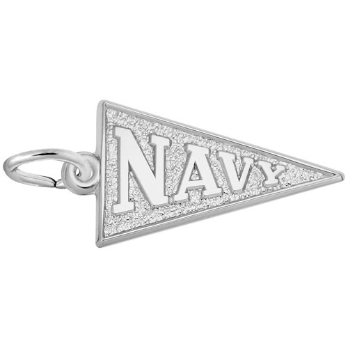 Sterling Silver Navy Pennant Flag Charm by Rembrandt Charms