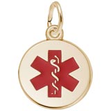 14k Gold Medical Alert (red) Charm by Rembrandt Charms