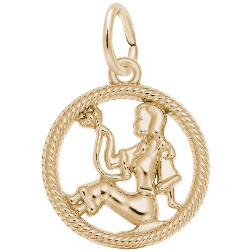 10k Gold Virgo Zodiac Charm by Rembrandt Charms