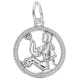 14k White Gold Virgo Zodiac Charm by Rembrandt Charms