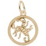 10k Gold Scorpio Zodiac Charm by Rembrandt Charms