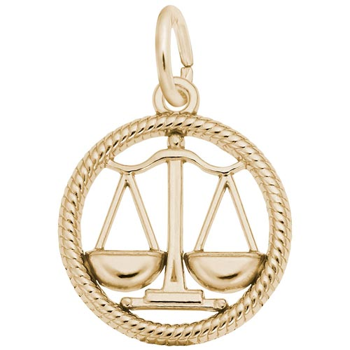 14k Gold Libra Zodiac Charm by Rembrandt Charms