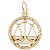 10k Gold Libra Zodiac Charm by Rembrandt Charms