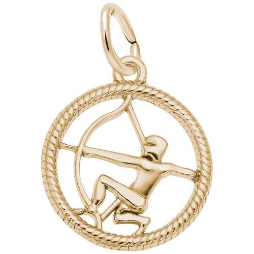 10k Gold Sagittarius Zodiac Charm by Rembrandt Charms