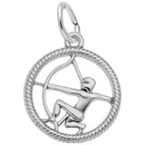 14k White Gold Sagittarius Zodiac Charm by Rembrandt Charms